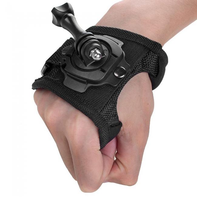 New 360 Degree Hand Wrist Strap Mount For Gopro Biker Life