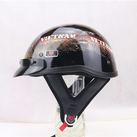 Vietnam Veteran Custom High Gloss Helmet Biker Life